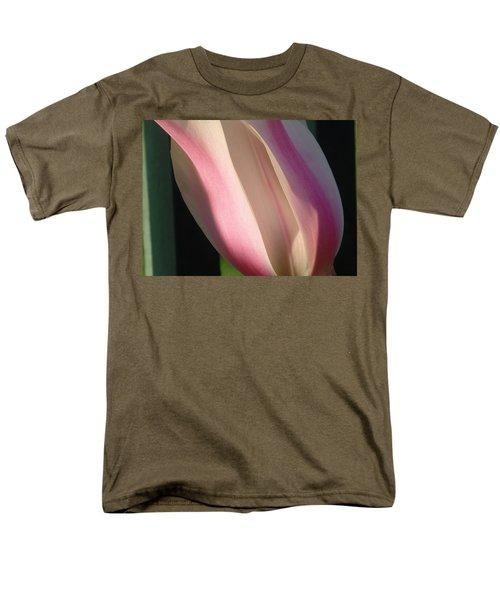 Striped Tulip Men's T-Shirt  (Regular Fit) by Karen Molenaar Terrell