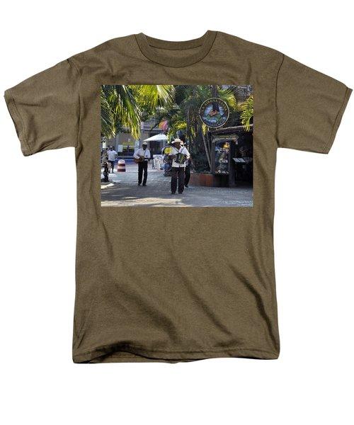 Men's T-Shirt  (Regular Fit) featuring the photograph Strolling Musicians by Jim Walls PhotoArtist