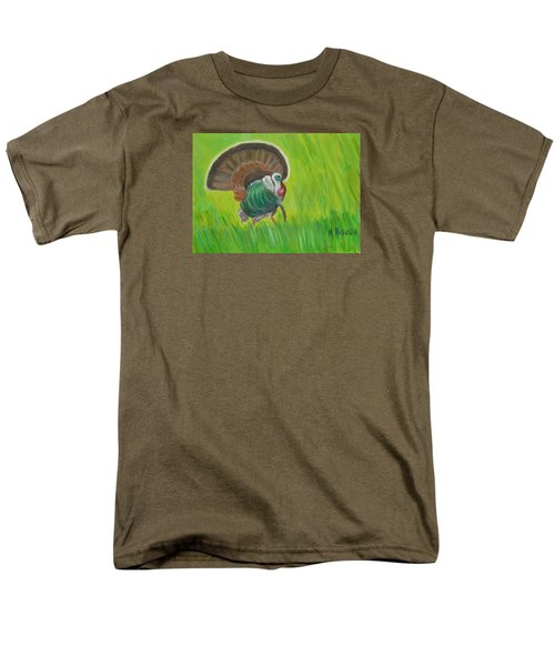 Strutting Turkey In The Grass Men's T-Shirt  (Regular Fit) by Margaret Harmon