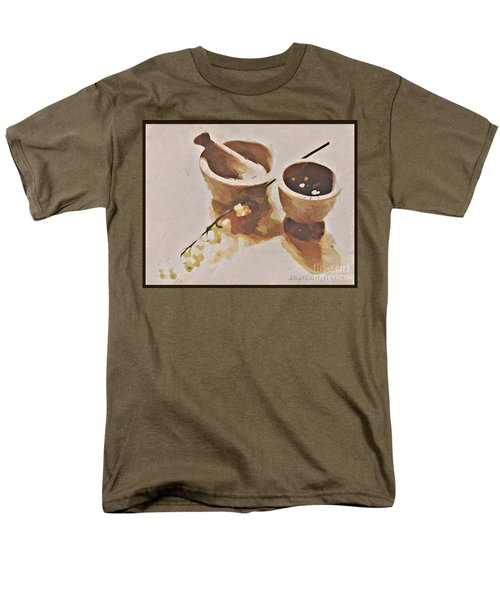 Men's T-Shirt  (Regular Fit) featuring the digital art Study In Brown by Alexis Rotella