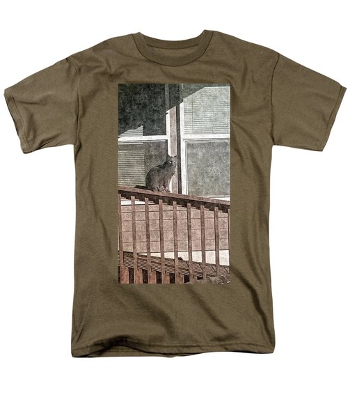 Study Of Lines With Cat Men's T-Shirt  (Regular Fit) by Karl Reid