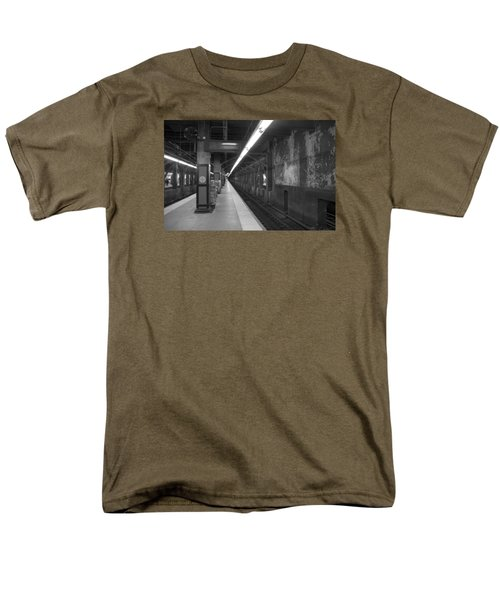 Men's T-Shirt  (Regular Fit) featuring the photograph Subway At Grand Central by Allen Carroll