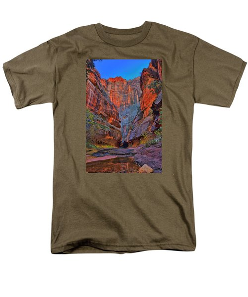 Men's T-Shirt  (Regular Fit) featuring the photograph Subway Entrance by Greg Norrell