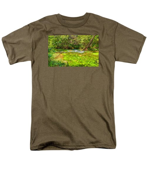 Men's T-Shirt  (Regular Fit) featuring the photograph Summer At Alley Springs by John M Bailey