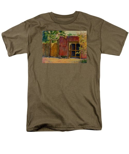 Men's T-Shirt  (Regular Fit) featuring the painting Summer Day In Santa Fe by Ann Peck