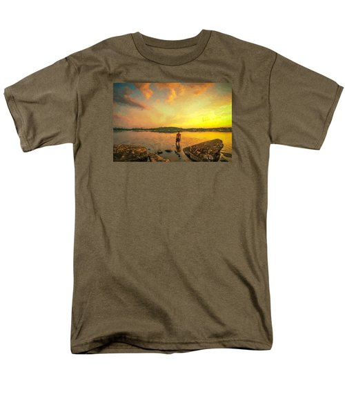 Men's T-Shirt  (Regular Fit) featuring the painting Summer Joy by Rose-Maries Pictures