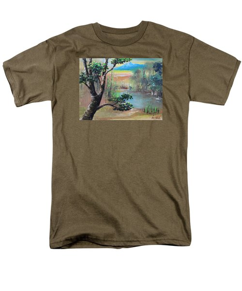 Summer Leaves Men's T-Shirt  (Regular Fit) by Remegio Onia