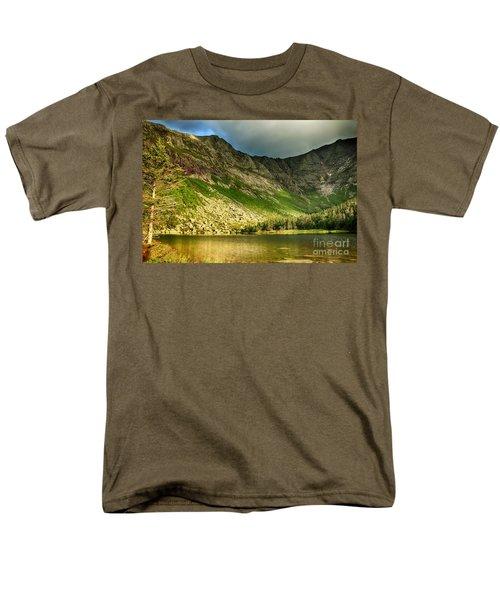 Sun Shining On Chimney Pond  Men's T-Shirt  (Regular Fit) by Elizabeth Dow