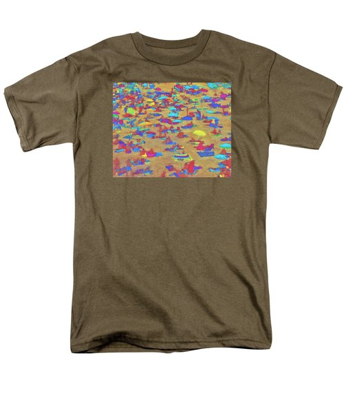 Men's T-Shirt  (Regular Fit) featuring the digital art Sun Umbrellas by Pedro L Gili