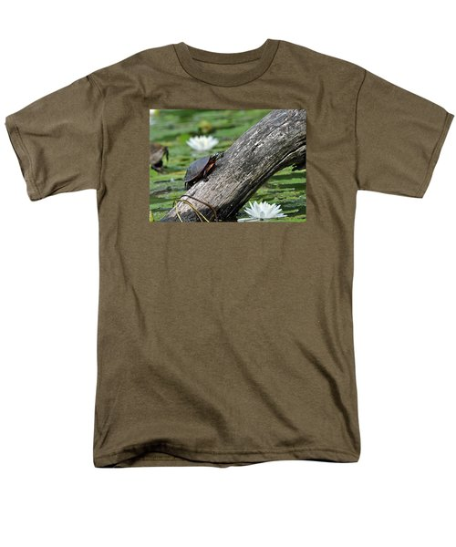 Men's T-Shirt  (Regular Fit) featuring the photograph Turtle Sunbathing by Glenn Gordon