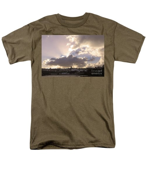 Men's T-Shirt  (Regular Fit) featuring the photograph Sunbeams Over Church In Color by Nicholas Burningham