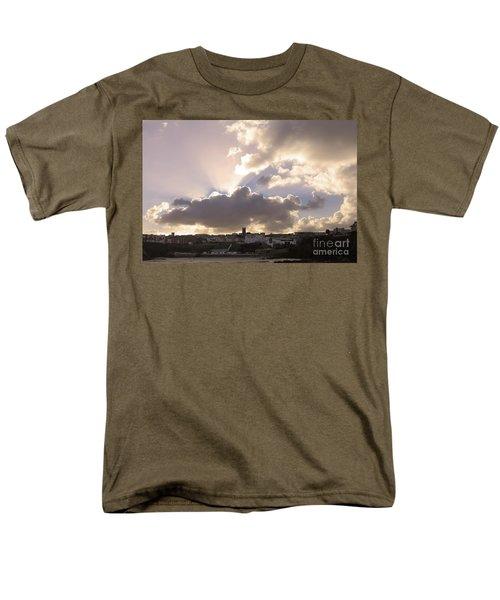 Sunbeams Over Church In Color Men's T-Shirt  (Regular Fit) by Nicholas Burningham