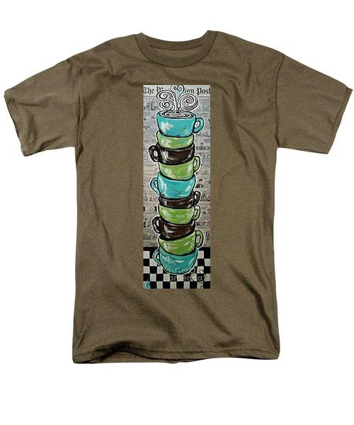 Sundays Cup A Joe Dark Roast Men's T-Shirt  (Regular Fit) by Jackie Carpenter