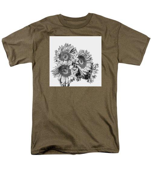 Sunflower Bouquet Bw Men's T-Shirt  (Regular Fit)
