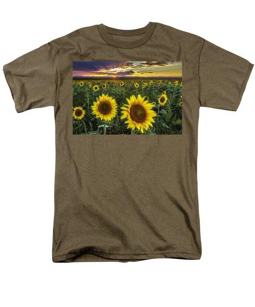 Sunflower Sunset Men's T-Shirt  (Regular Fit) by Kristal Kraft