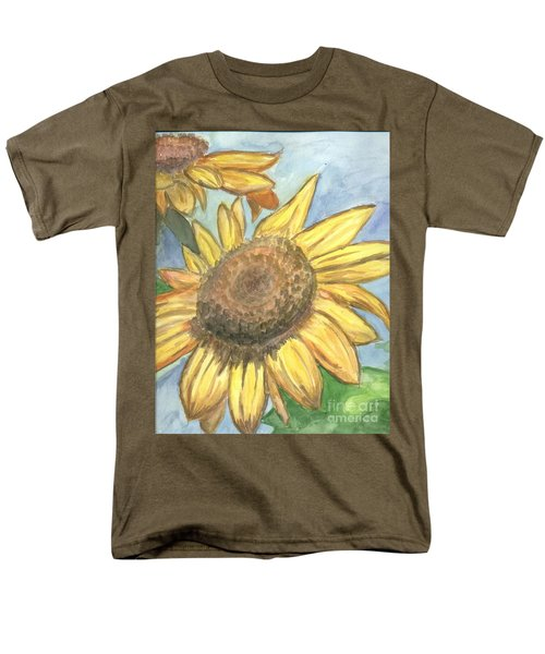 Men's T-Shirt  (Regular Fit) featuring the painting Sunflowers by Jacqueline Athmann