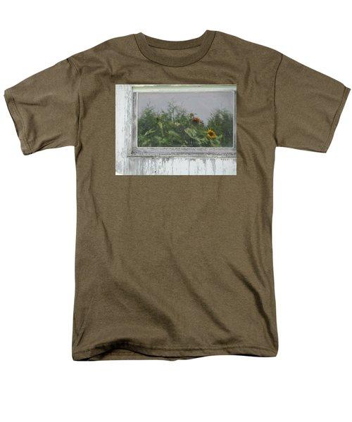 Sunflowers On Barn Men's T-Shirt  (Regular Fit) by Tina M Wenger