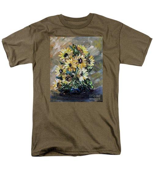 Sunflowers Men's T-Shirt  (Regular Fit) by Teresa Wegrzyn