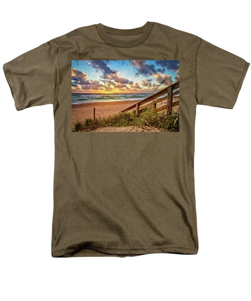 Men's T-Shirt  (Regular Fit) featuring the photograph Sunlight On The Sand by Debra and Dave Vanderlaan