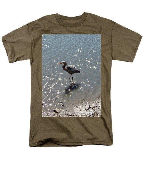 Men's T-Shirt  (Regular Fit) featuring the photograph Sunlit Heron by Carol  Bradley