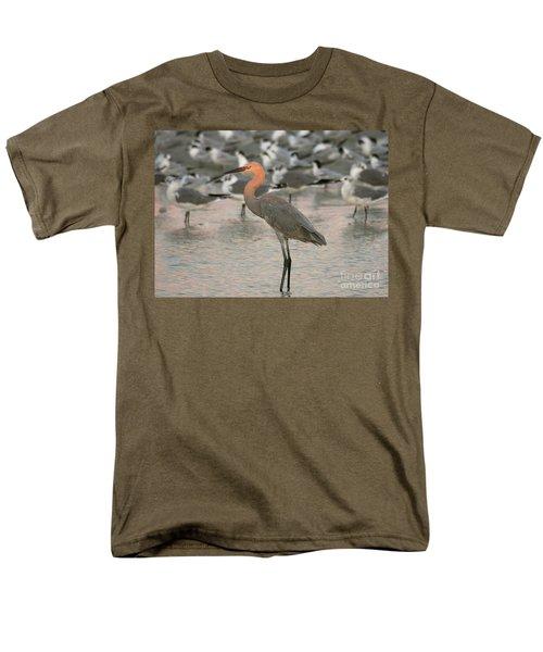 Sunlit Reddish Egret Men's T-Shirt  (Regular Fit) by Myrna Bradshaw