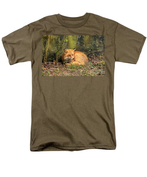 Sunning Fox Men's T-Shirt  (Regular Fit) by Debbie Green