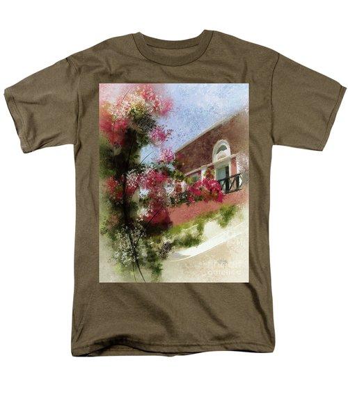 Men's T-Shirt  (Regular Fit) featuring the photograph Sunny Santorini by Lois Bryan