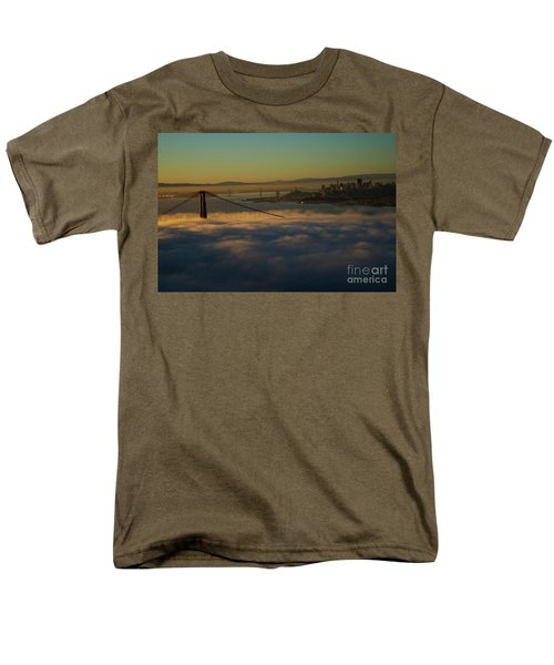 Men's T-Shirt  (Regular Fit) featuring the photograph Sunrise At The Golden Gate by David Bearden