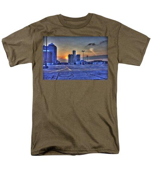 Sunrise In Detroit Mi Men's T-Shirt  (Regular Fit) by Nicholas  Grunas