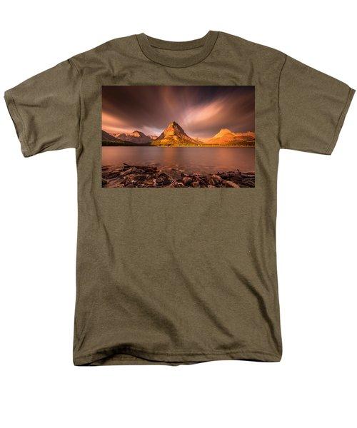 Sunrise In Glacier National Park Men's T-Shirt  (Regular Fit) by Pierre Leclerc Photography