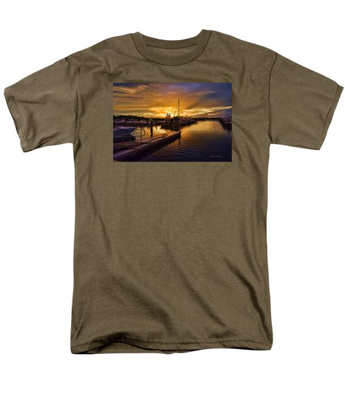 Sunrise Marina Men's T-Shirt  (Regular Fit) by Don Durfee
