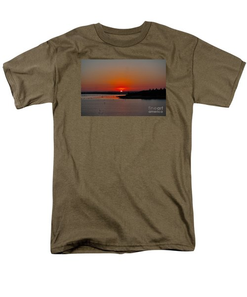 Men's T-Shirt  (Regular Fit) featuring the photograph Sunrise On Lake Ray Hubbard by Diana Mary Sharpton