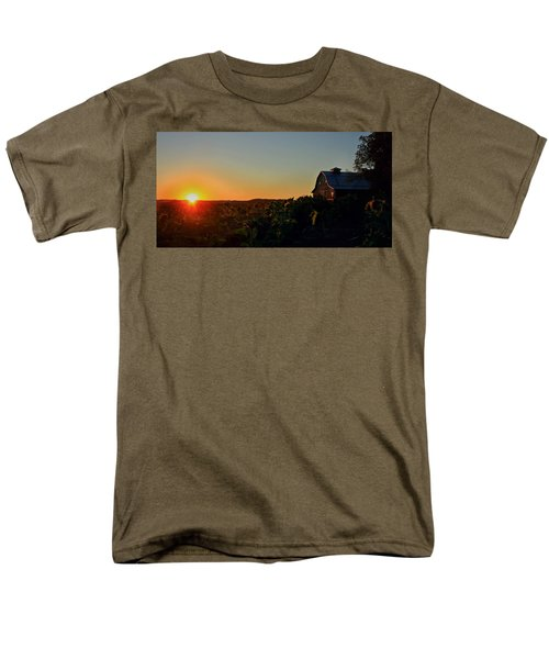Men's T-Shirt  (Regular Fit) featuring the photograph Sunrise On The Farm by Chris Berry