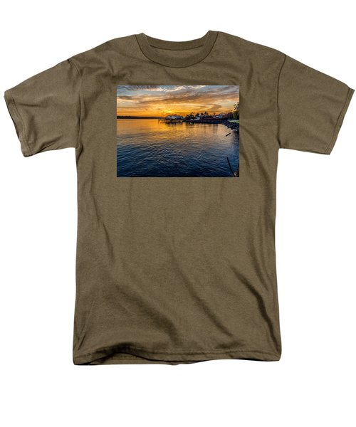 Men's T-Shirt  (Regular Fit) featuring the photograph Sunrise Over Commencement Bay Tacoma, Wa by Rob Green