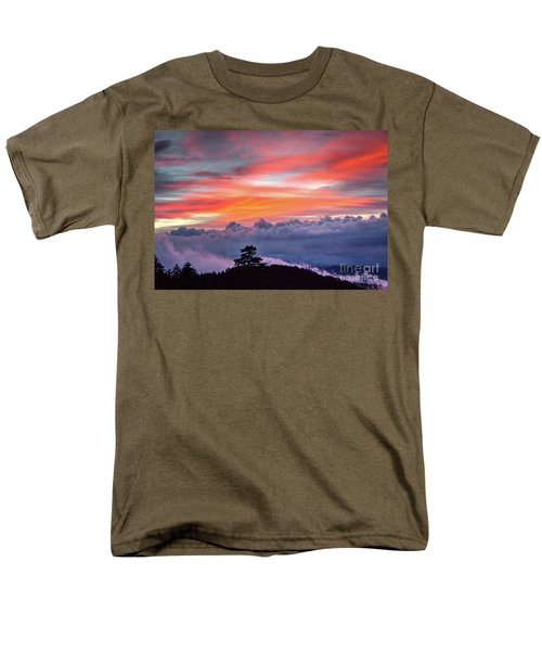 Men's T-Shirt  (Regular Fit) featuring the photograph Sunrise Over The Smoky's II by Douglas Stucky