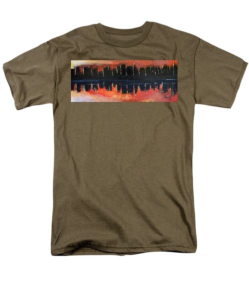 Men's T-Shirt  (Regular Fit) featuring the painting Sunrise Sunset by Gary Smith