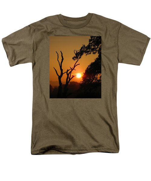 Men's T-Shirt  (Regular Fit) featuring the photograph Sunrise Trees by RKAB Works