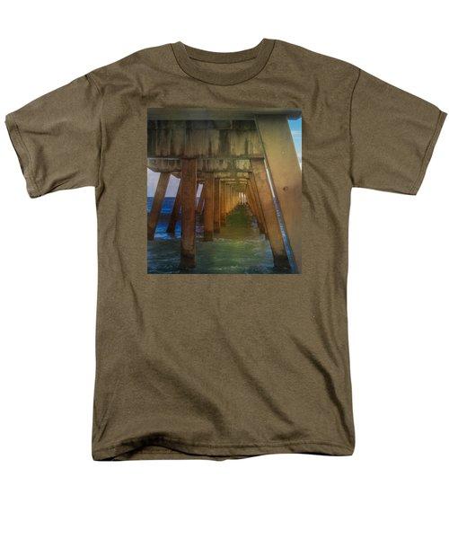 Men's T-Shirt  (Regular Fit) featuring the photograph Sunrise Under The Pier by Arlene Carmel