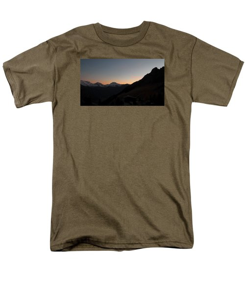 Sunset Afterglow In The Mountains Men's T-Shirt  (Regular Fit) by Ernst Dittmar