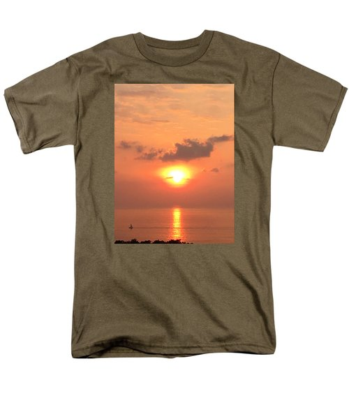 Sunset And Sailboat Men's T-Shirt  (Regular Fit) by Karen Nicholson