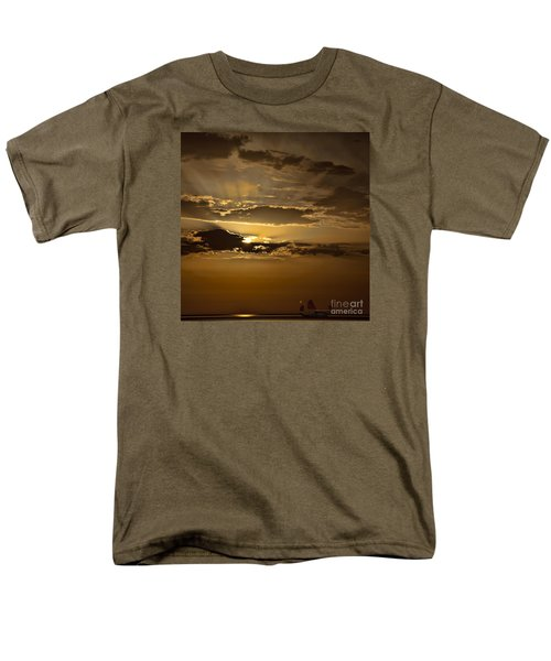 Men's T-Shirt  (Regular Fit) featuring the photograph Sunset And Sanpan by Shirley Mangini