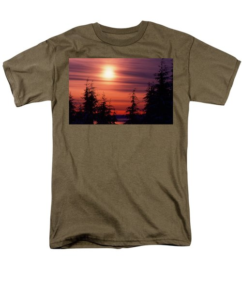 Sunset And Trees Two  Men's T-Shirt  (Regular Fit) by Lyle Crump
