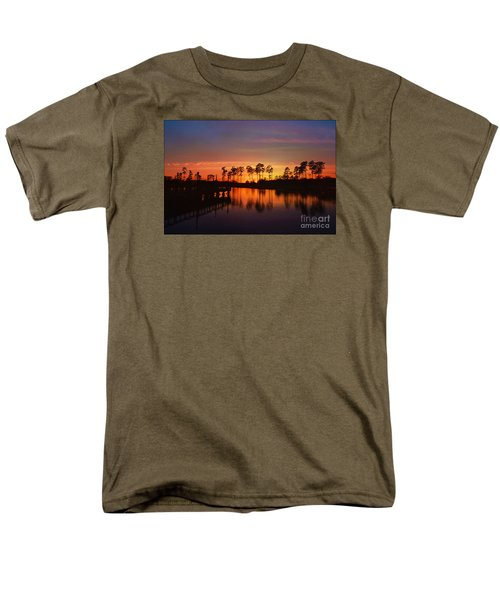 Sunset At Market Commons II Men's T-Shirt  (Regular Fit) by Kathy Baccari