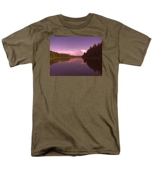 Men's T-Shirt  (Regular Fit) featuring the photograph Sunset At The Lake by Debra     Vatalaro