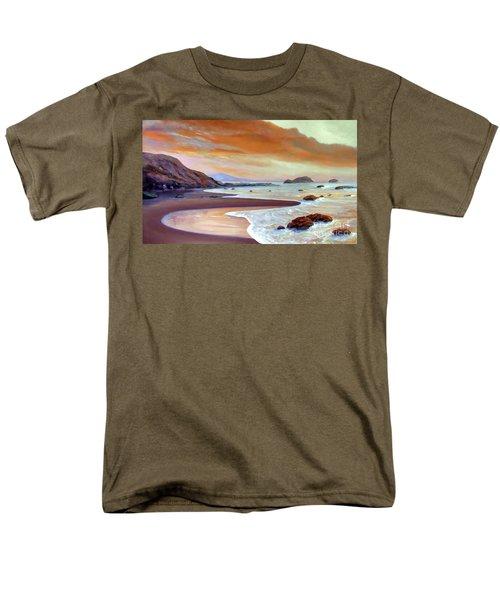 Sunset Beach Men's T-Shirt  (Regular Fit) by Michael Rock