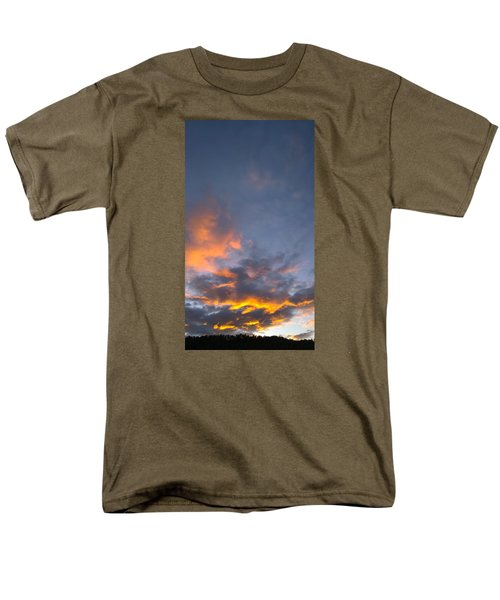 Sunset Cloud Scape Over Bryson City Nc Men's T-Shirt  (Regular Fit) by Kelly Hazel