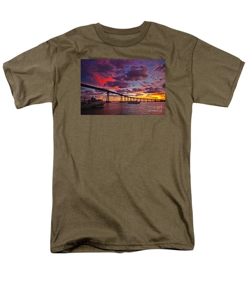 Sunset Crossing At The Coronado Bridge Men's T-Shirt  (Regular Fit) by Sam Antonio Photography
