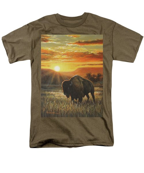 Sunset In Bison Country Men's T-Shirt  (Regular Fit) by Kim Lockman