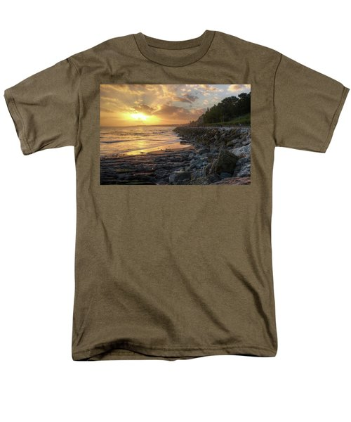 Men's T-Shirt  (Regular Fit) featuring the photograph Sunset In The Coast by Carlos Caetano