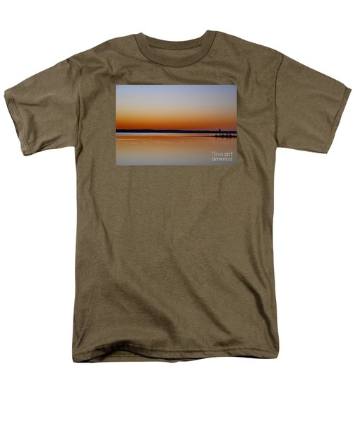 Men's T-Shirt  (Regular Fit) featuring the photograph Sunset Lake Texhoma by Diana Mary Sharpton